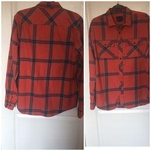 Tavik Vince Flannel Plaid Check shirt medium